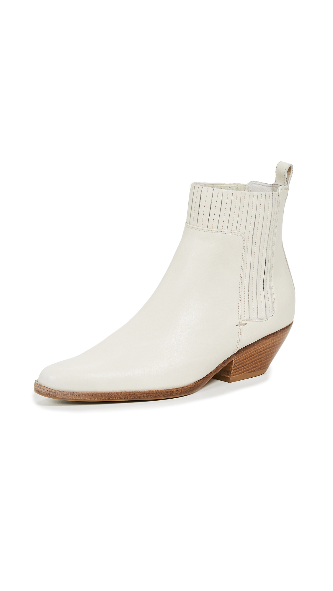Vince Eckland Booties - Vintage White