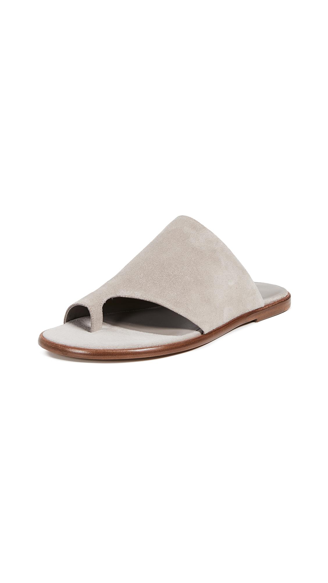 Vince Edris Toe Ring Slide Sandals - Lt Woodsmoke