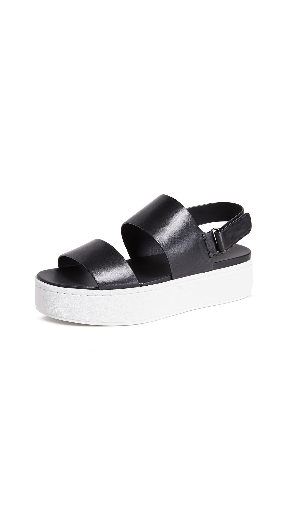 Vince Westport Platform Sandals - Black/Plaster