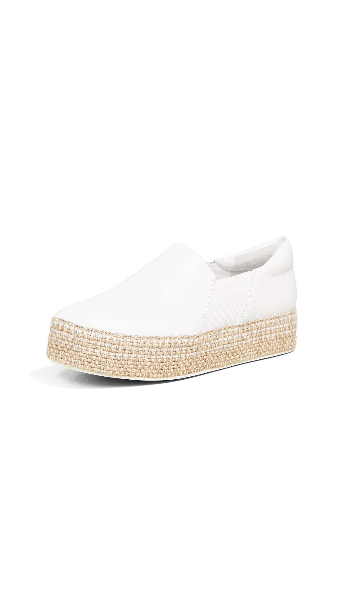 Vince Wilden Platform Slip On Sneakers - White