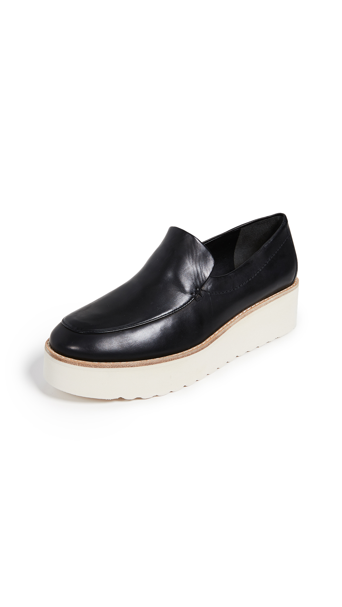 Vince Zeta Platform Loafers - Black