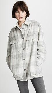 Vince Plaid Shirt Jacket