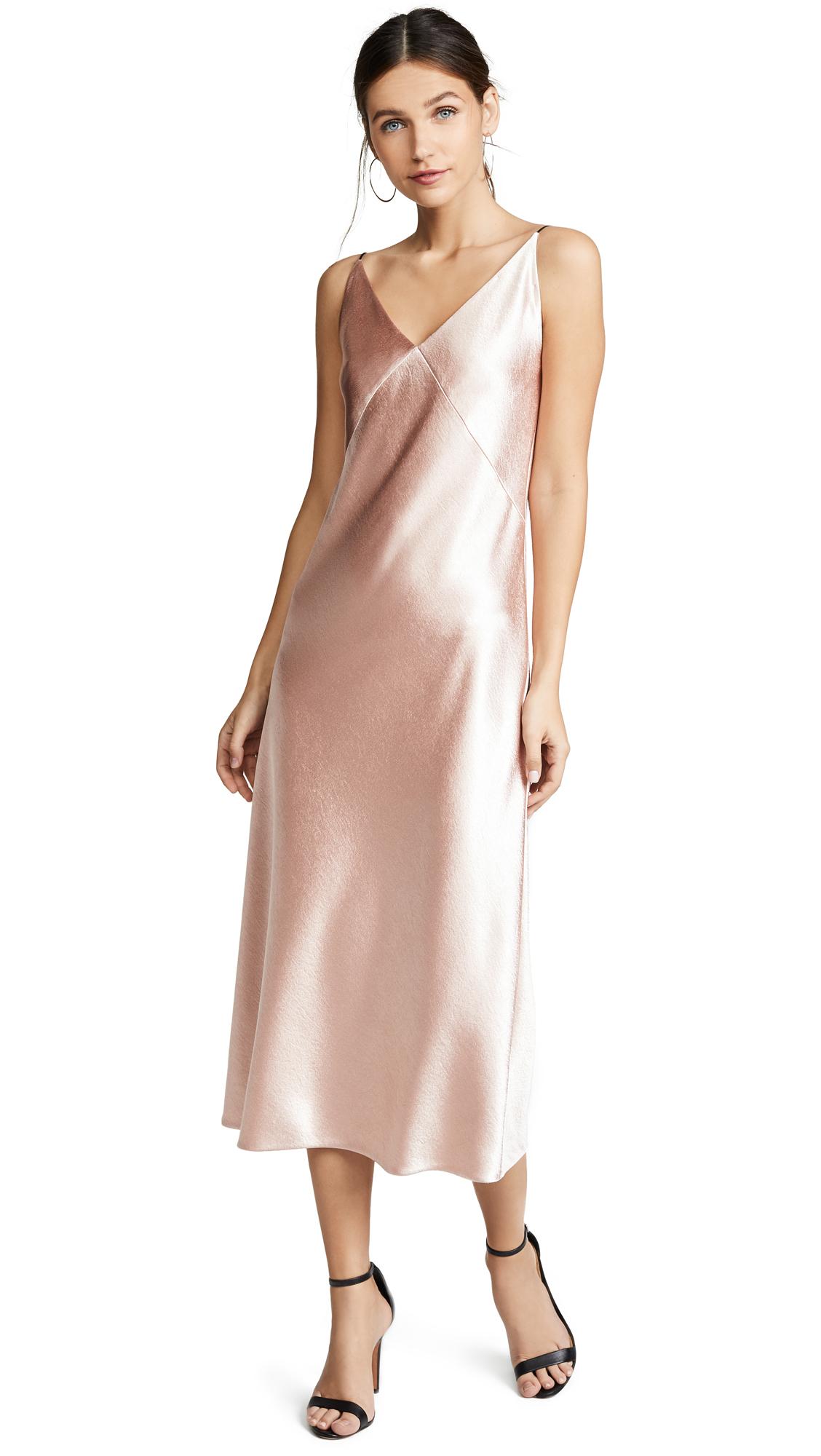 Vince V-Neck Bias Dress