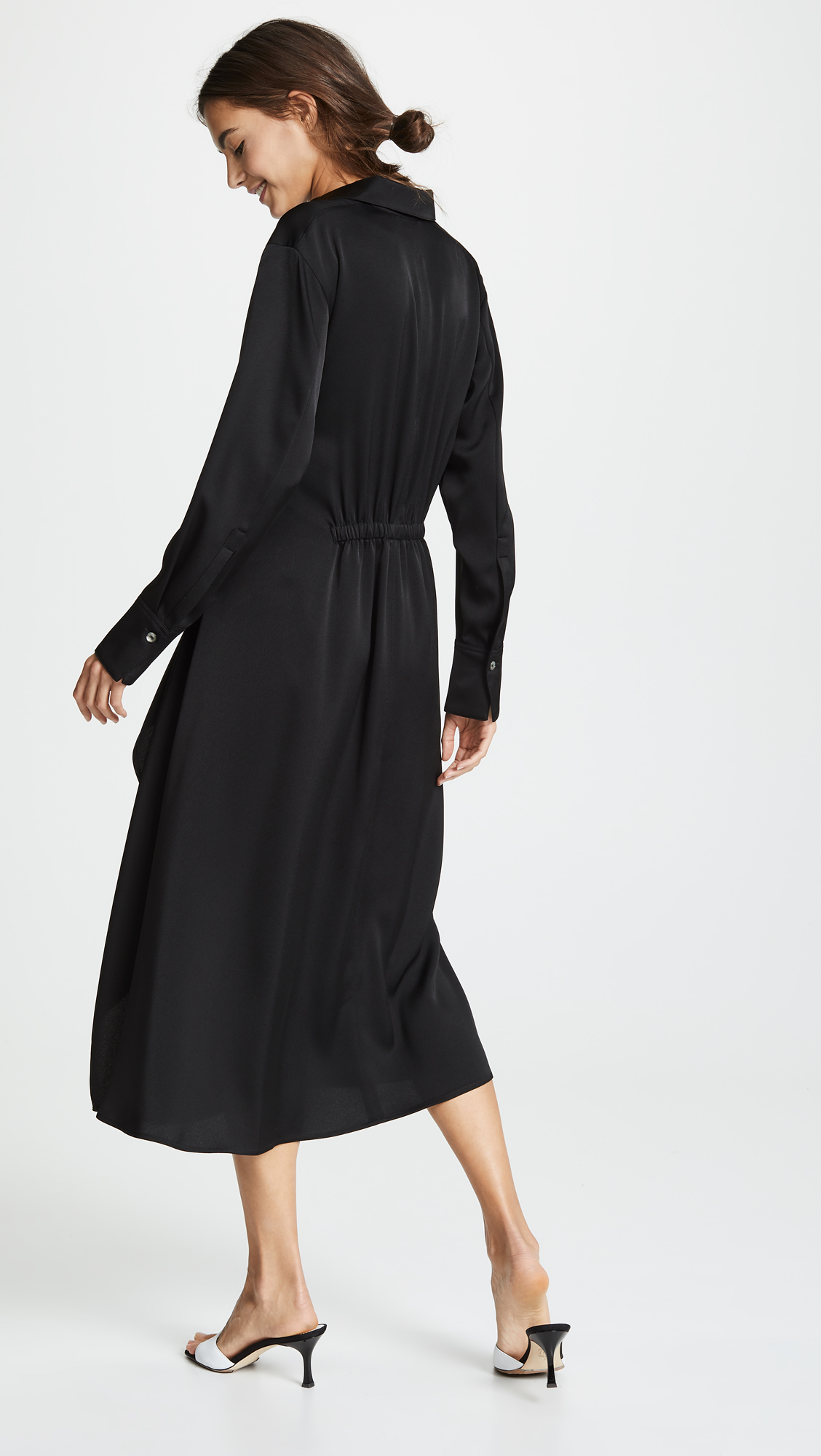 6d73607d3a9 Vince Tie Front Shirtdress