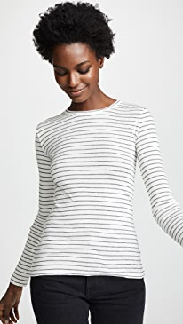 219ee79c20 Vince. Pinstripe Long Sleeve Tee. $110.00 $44.00 $77.00. Off White/Black