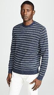 Vince Striped Crew Neck Pullover