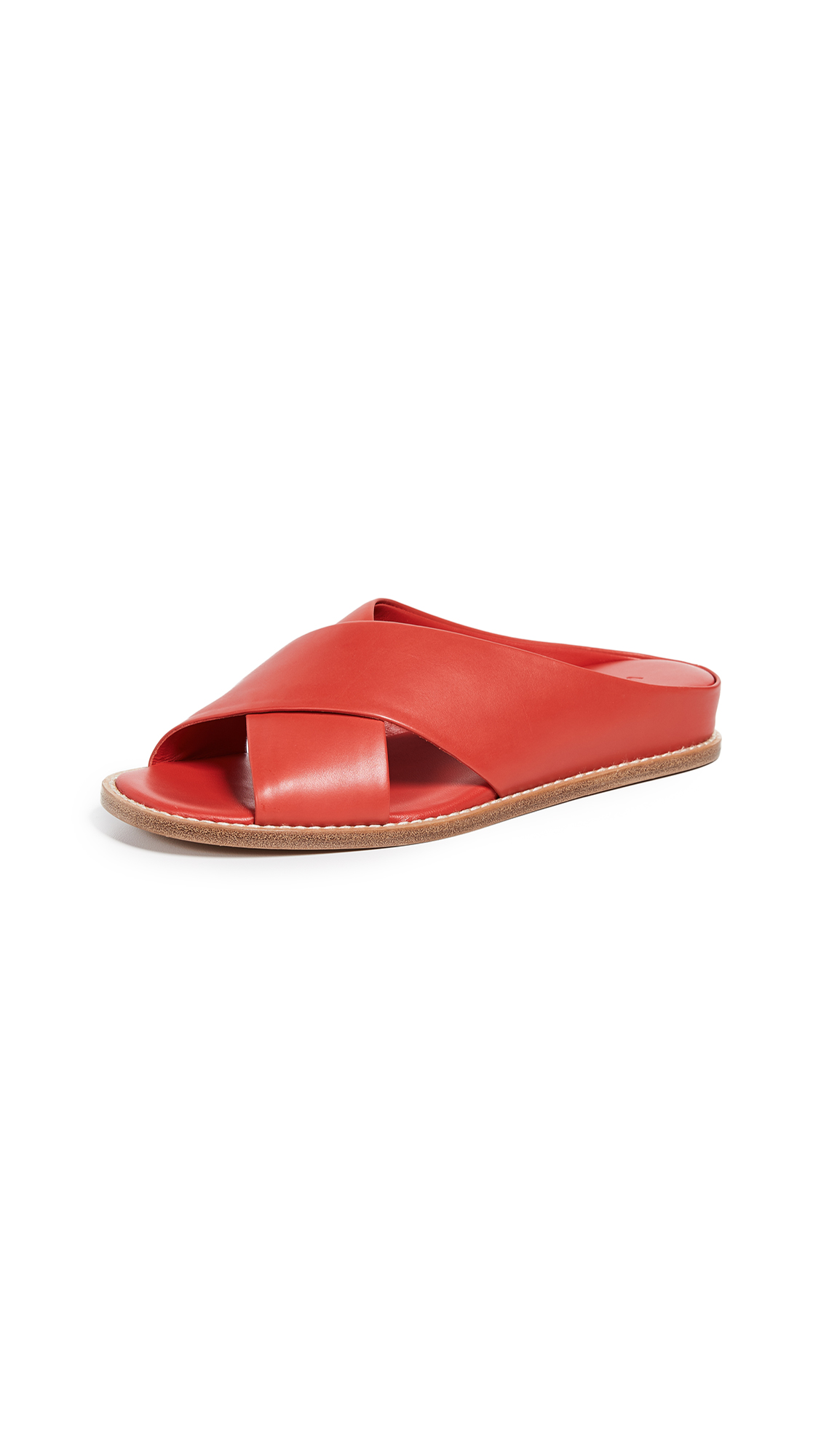 Vince Fairley Slide Sandals - Adobe Red