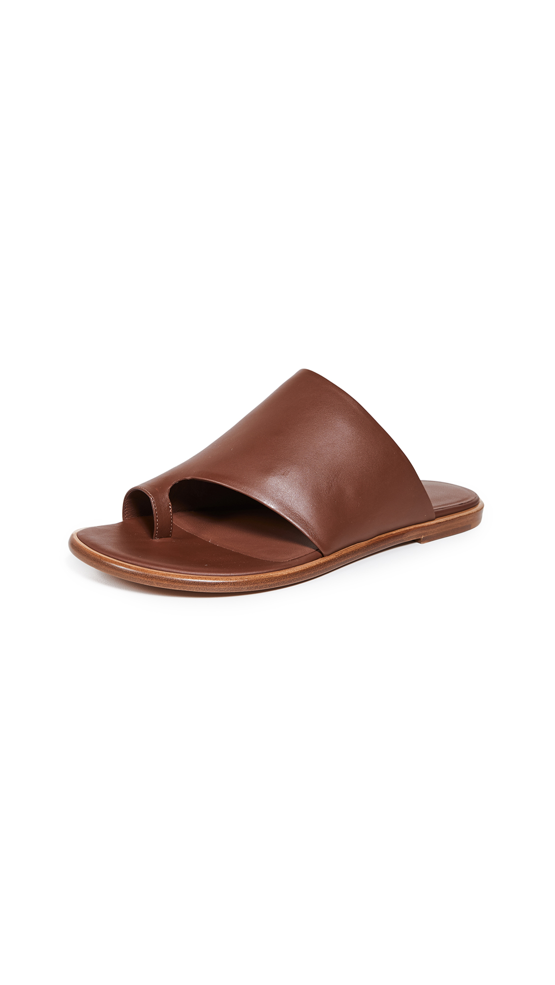 Vince Edris Toe Ring Slide Sandals - Cognac