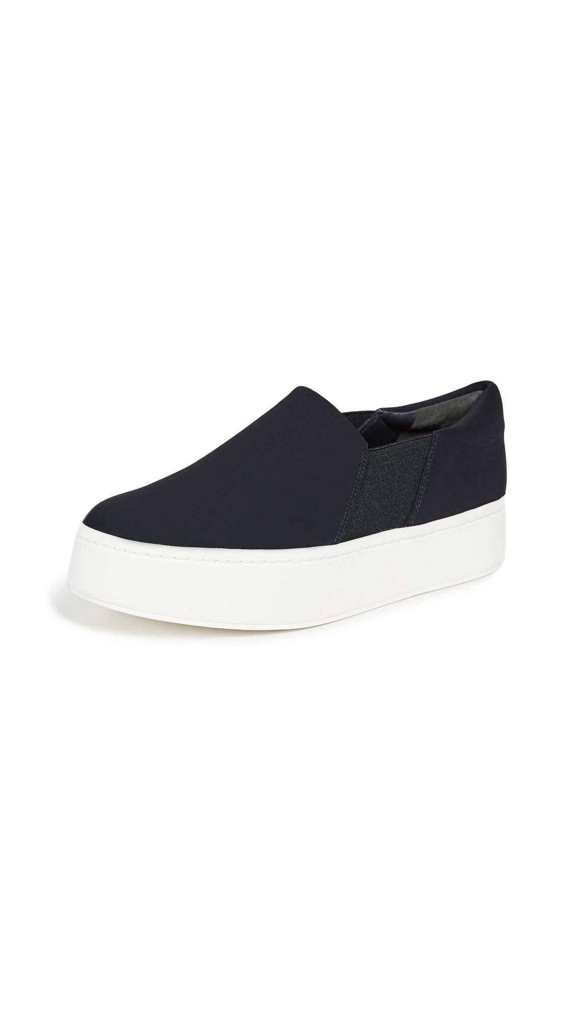 Vince Warren Platform Slip On Sneakers - Black