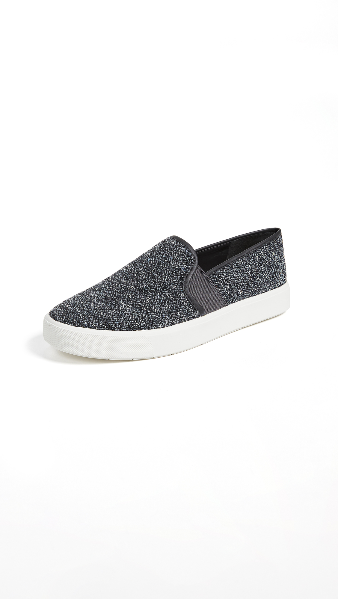 Blair-5 Tweed Slip-On Skate Sneakers in Navy