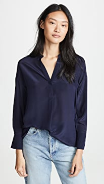 c3c977507dc2cb Vince. Band Collar Blouse