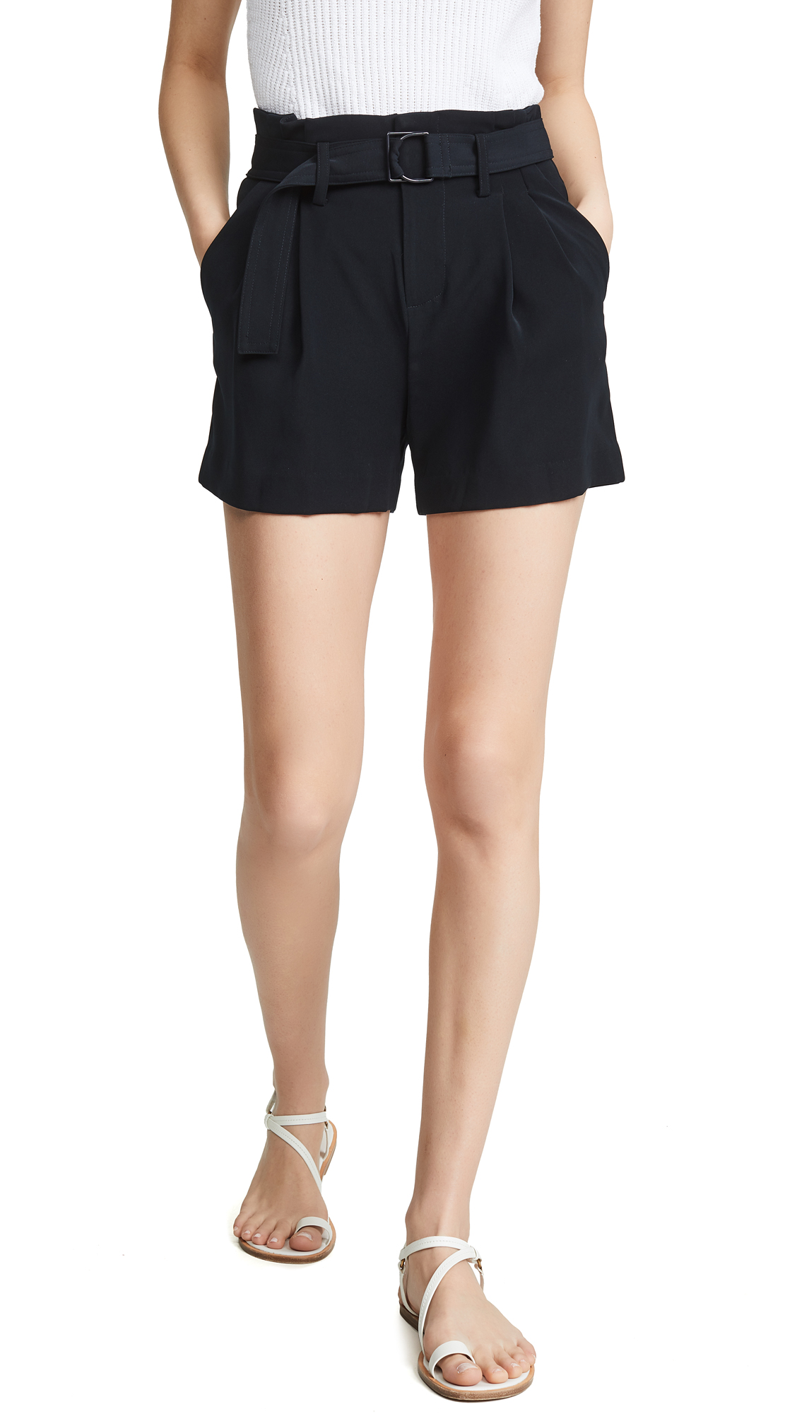 VINCE CAMUTO | Vince Belted Shorts | Goxip