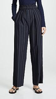 Vince Dobby Stripe Belted Pants