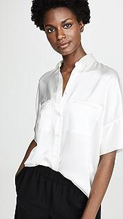 Vince 绸缎女式衬衫