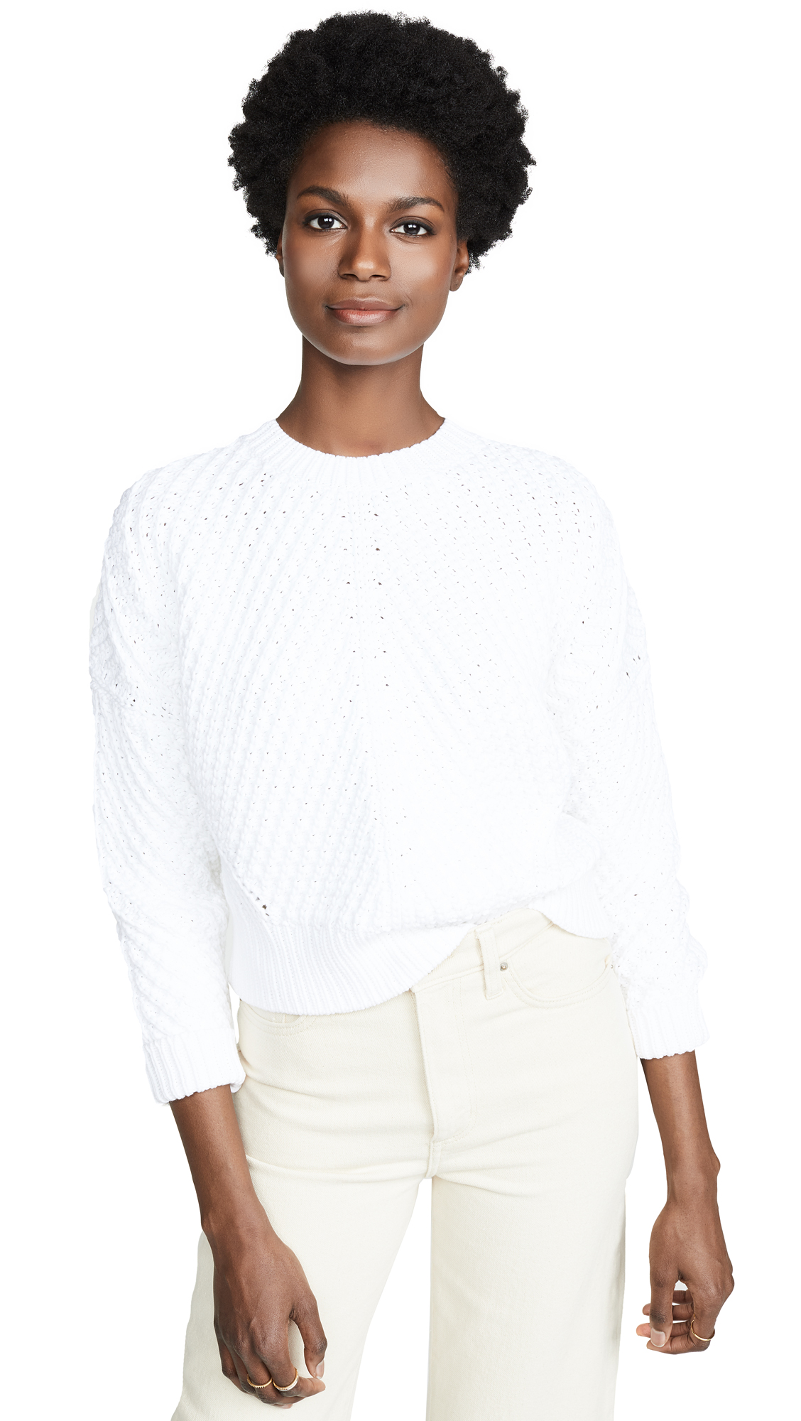 VINCE CAMUTO | Vince Directional Rib Pullover | Goxip