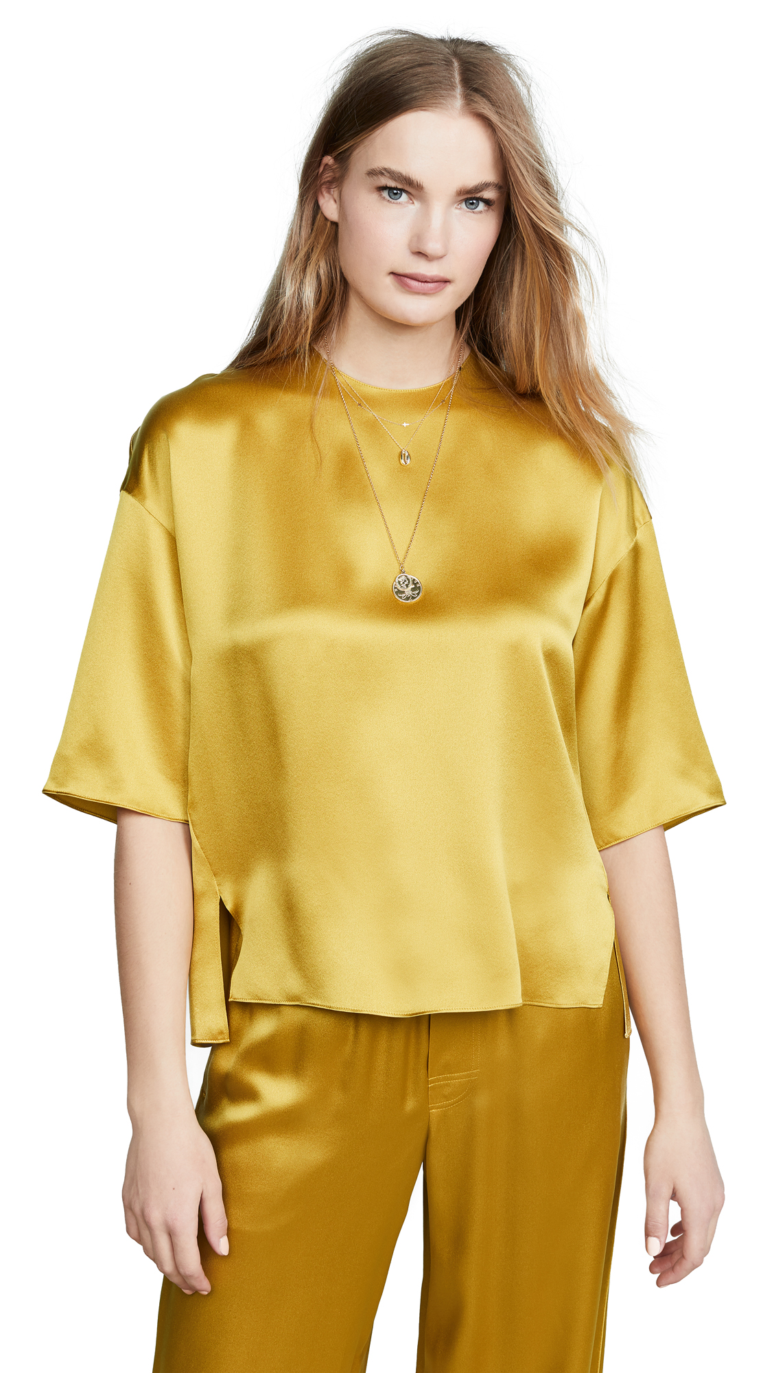 VINCE CAMUTO | Vince Satin Top | Goxip
