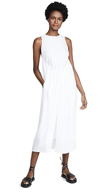 Vince Shirred Drawstring Dress