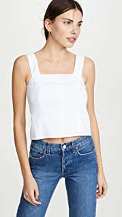 Vince Cropped Wide Strap Shell Top