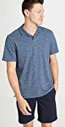 Vince Short Sleeve Striped Polo Shirt