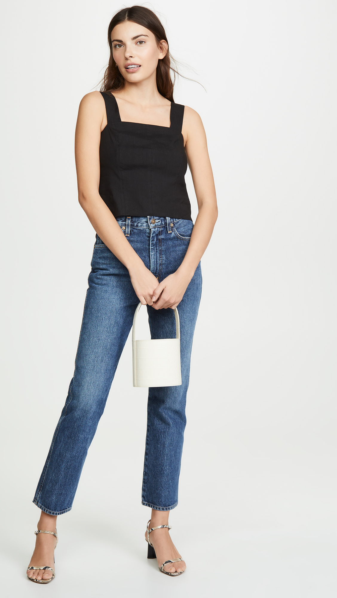 9feabd4066d292 Vince Cropped Wide Strap Shell Top | SHOPBOP