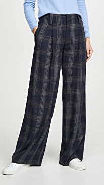 6e79bac3e5 Vince. Plaid Wide Leg Pants