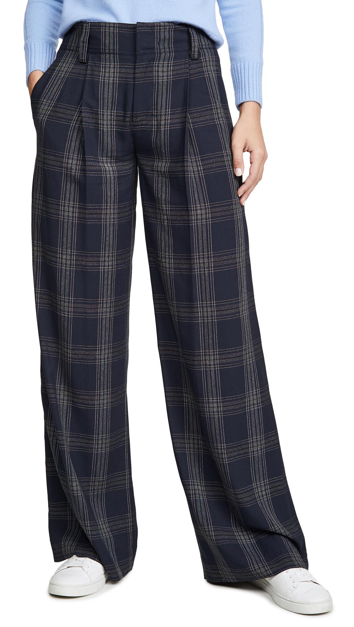 Buy Vince online - photo of Vince Plaid Wide Leg Pants