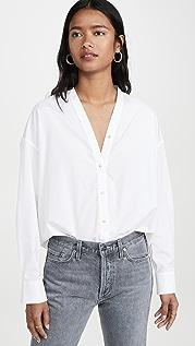 Vince Рубашка на пуговицах с V-образным вырезом