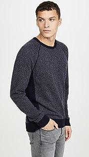 Vince Long Sleeve Birdseye Cashmere Sweater