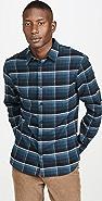 Vince Windowpane Plaid Long Sleeve Shirt