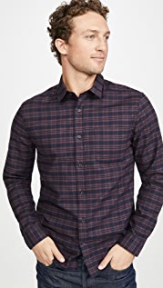 Vince Grid Plaid Long Sleeve Shirt