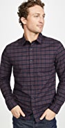 Vince Grid Plaid Long Sleeve Shirt