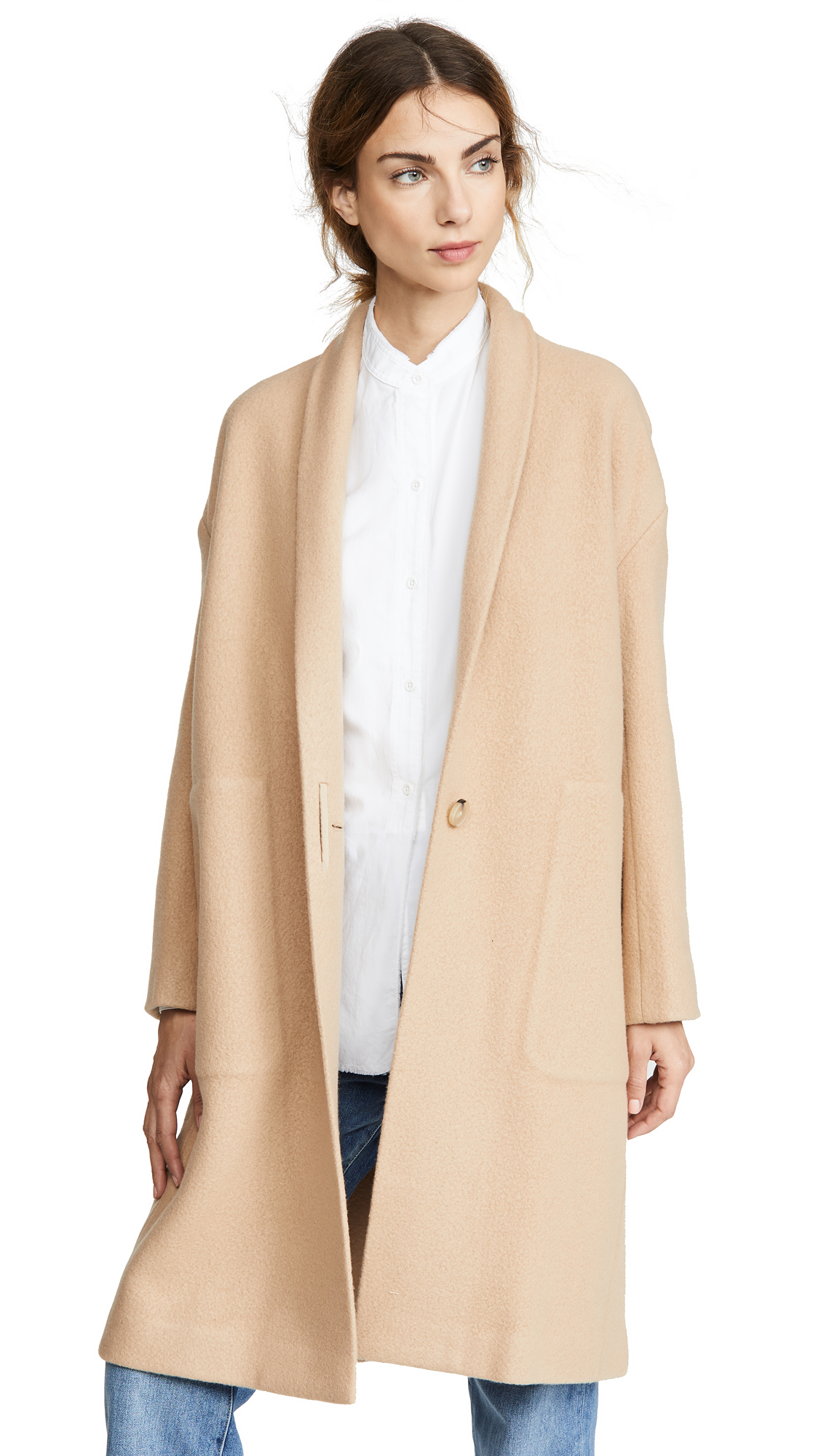 Buy Vince online - photo of Vince Collarless Long Coat
