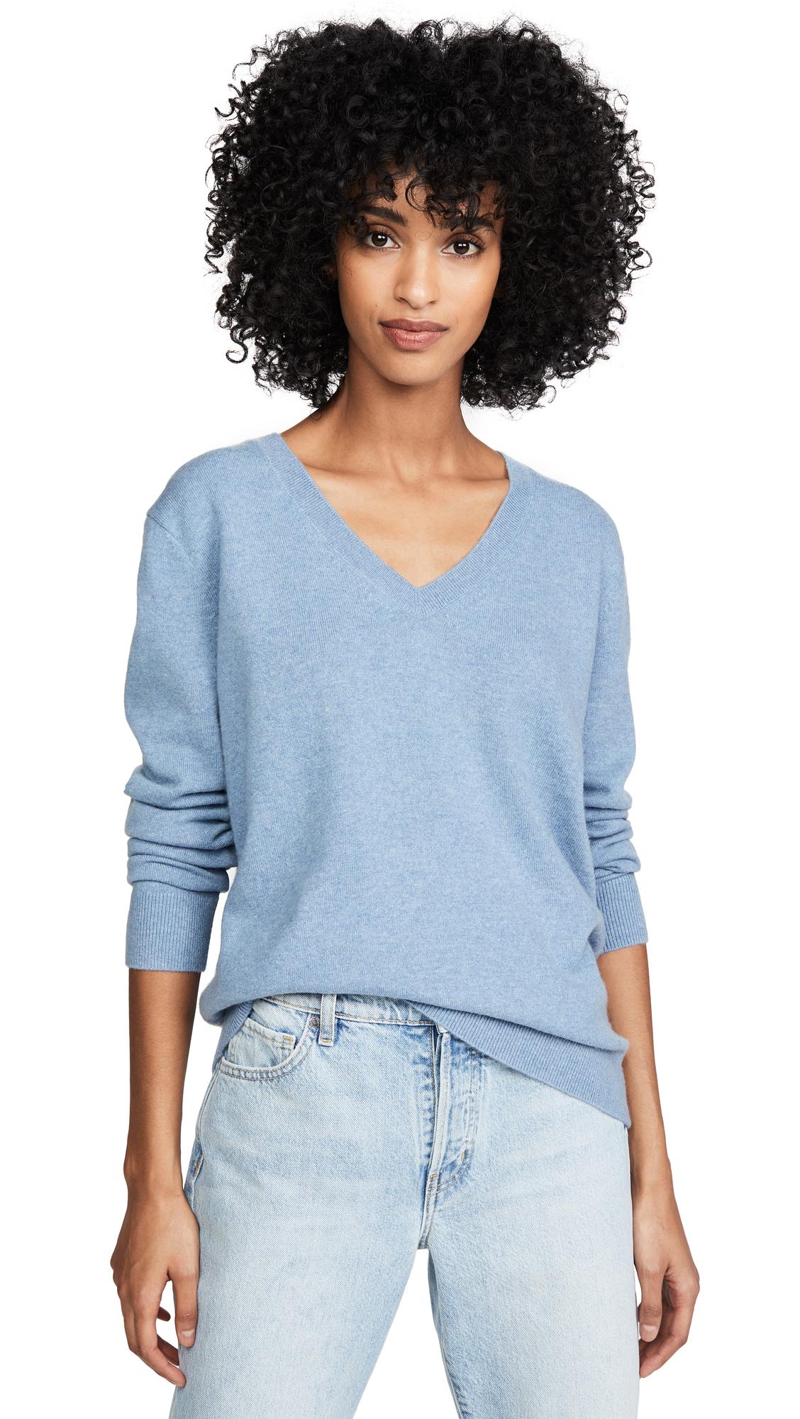 Buy Vince online - photo of Vince Weekend Cashmere V Neck Sweater