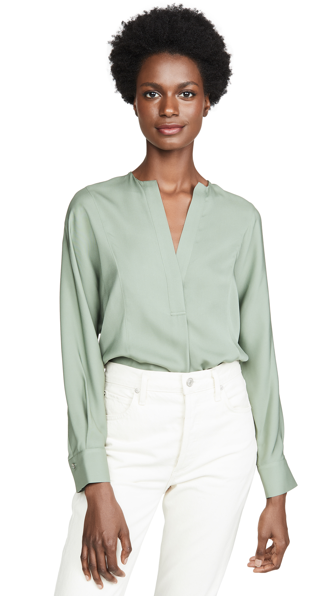 Buy Vince online - photo of Vince Half Placket Blouse