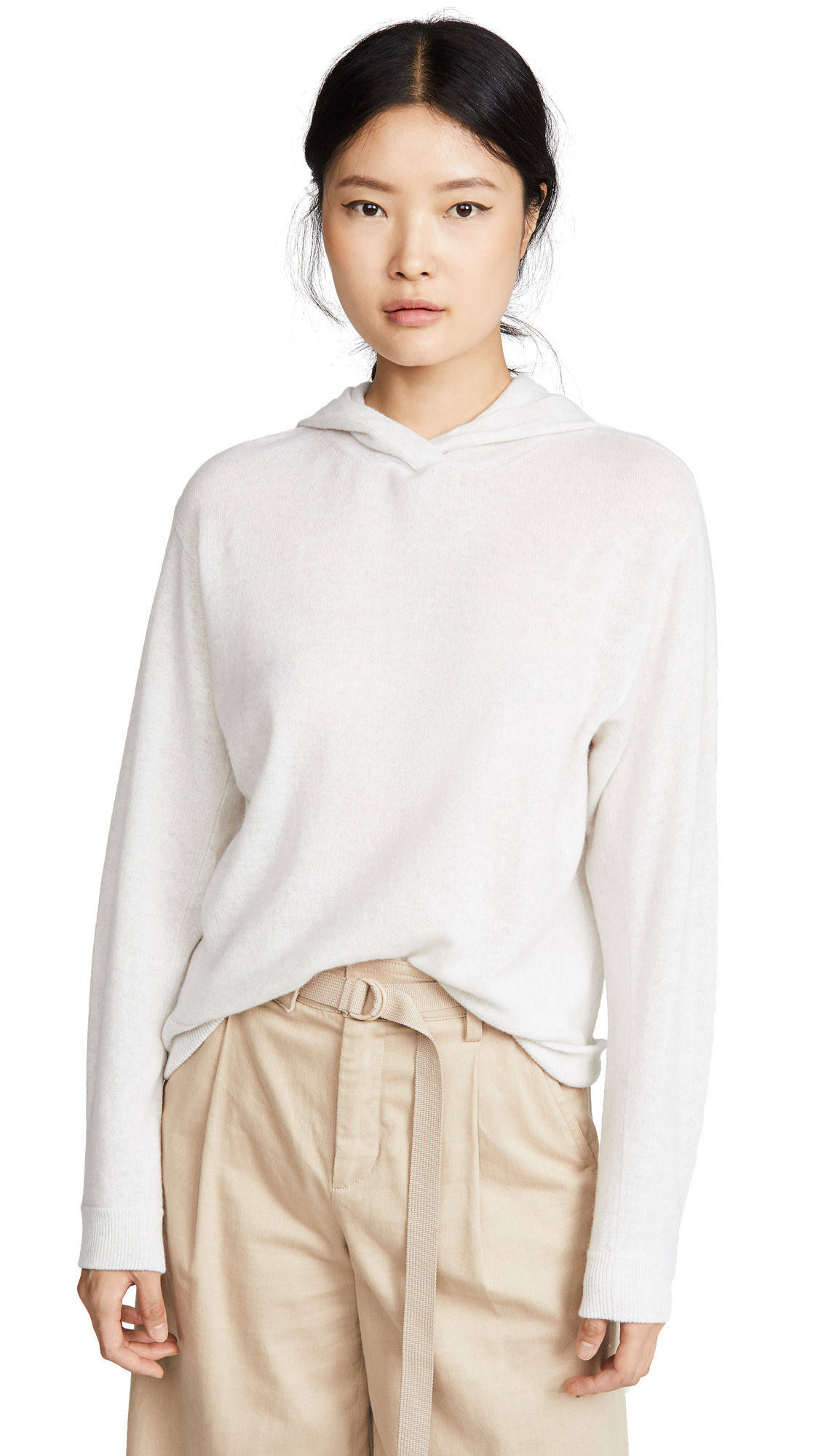 Buy Vince online - photo of Vince Cashmere Overlap Hoodie