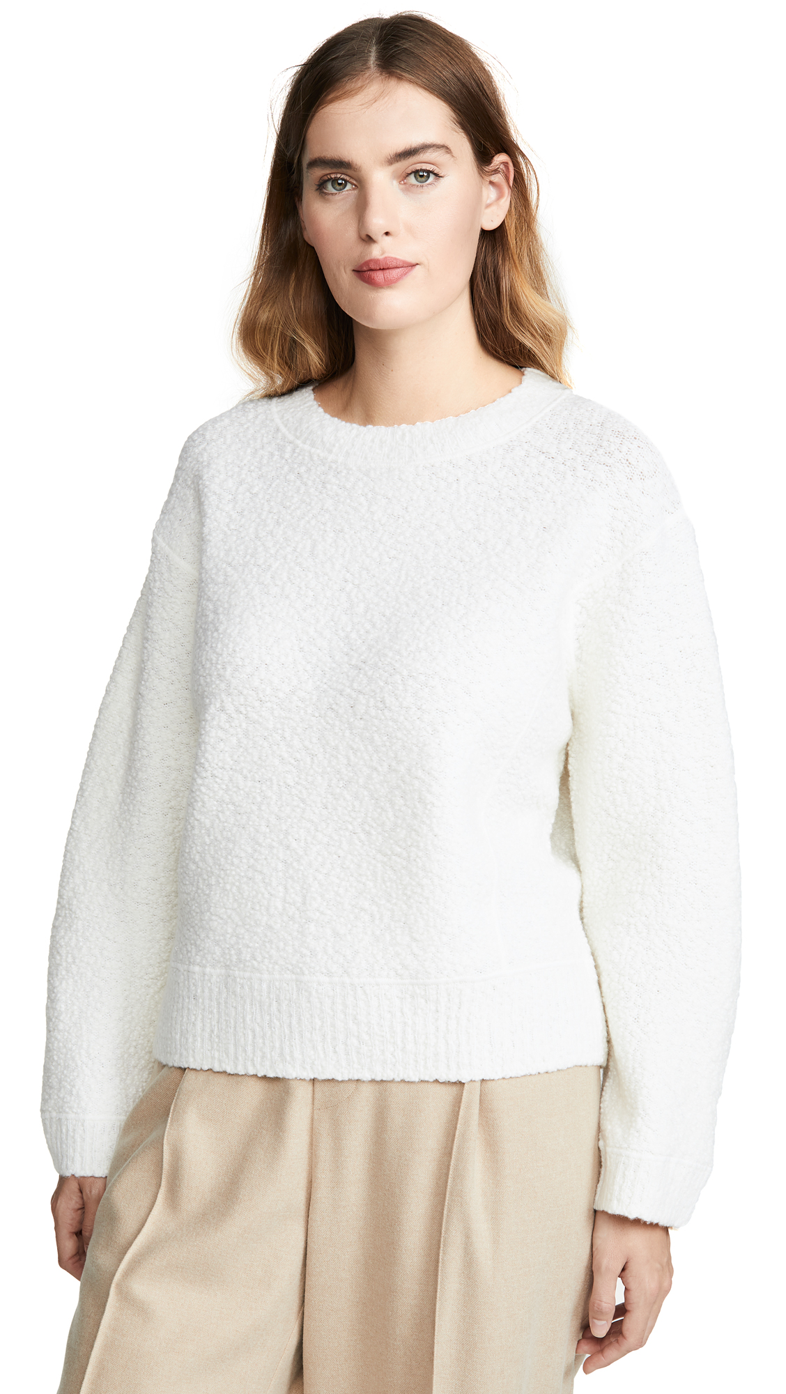 Buy Vince online - photo of Vince Texture Boucle Crew Neck Sweater