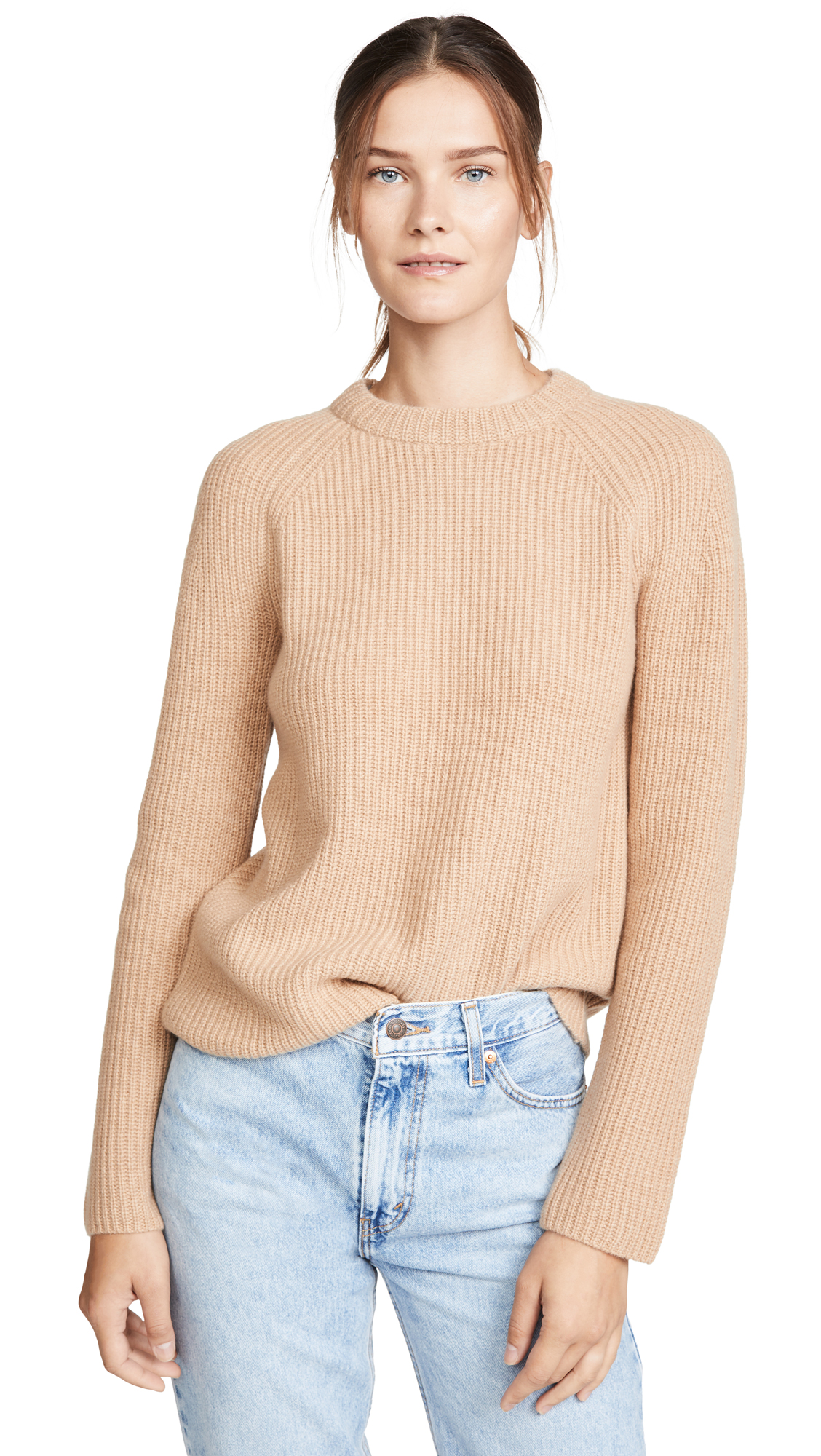 Buy Vince online - photo of Vince Cashmere Shaker Rib Pullover