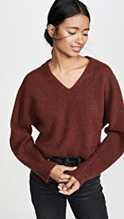 Vince Кашемировый свитер с рукавами «летучая мышь» и V-образным вырезом