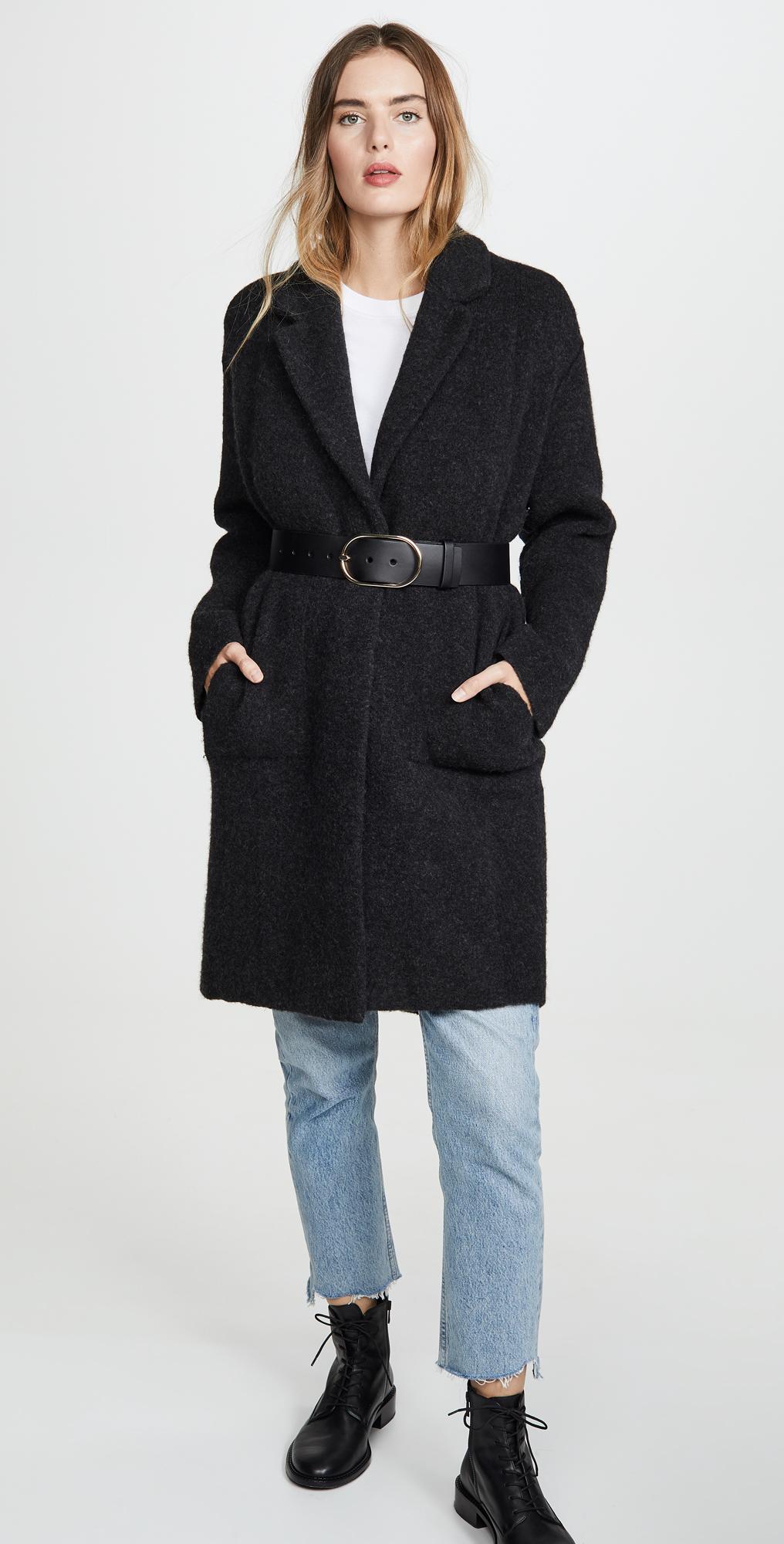 Vince Womens Notch Collar Cardigan