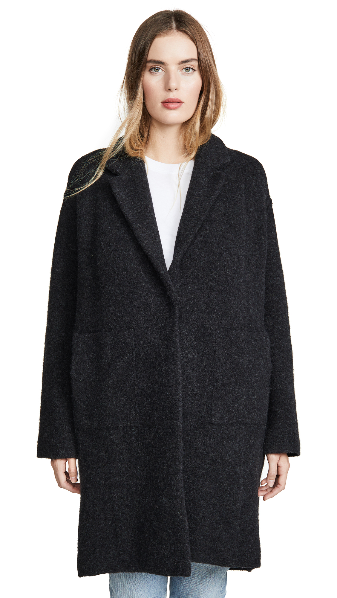 Buy Vince online - photo of Vince Notch Collar Cardigan