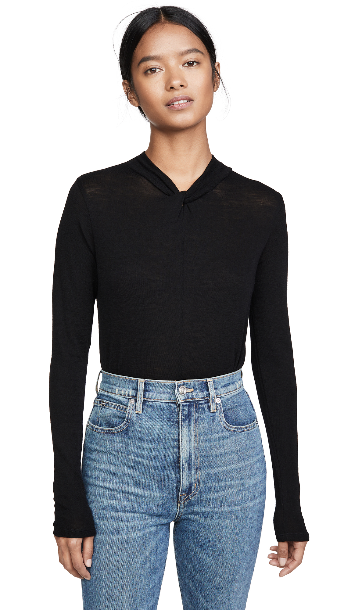 Buy Vince online - photo of Vince Twisted Turtleneck Top