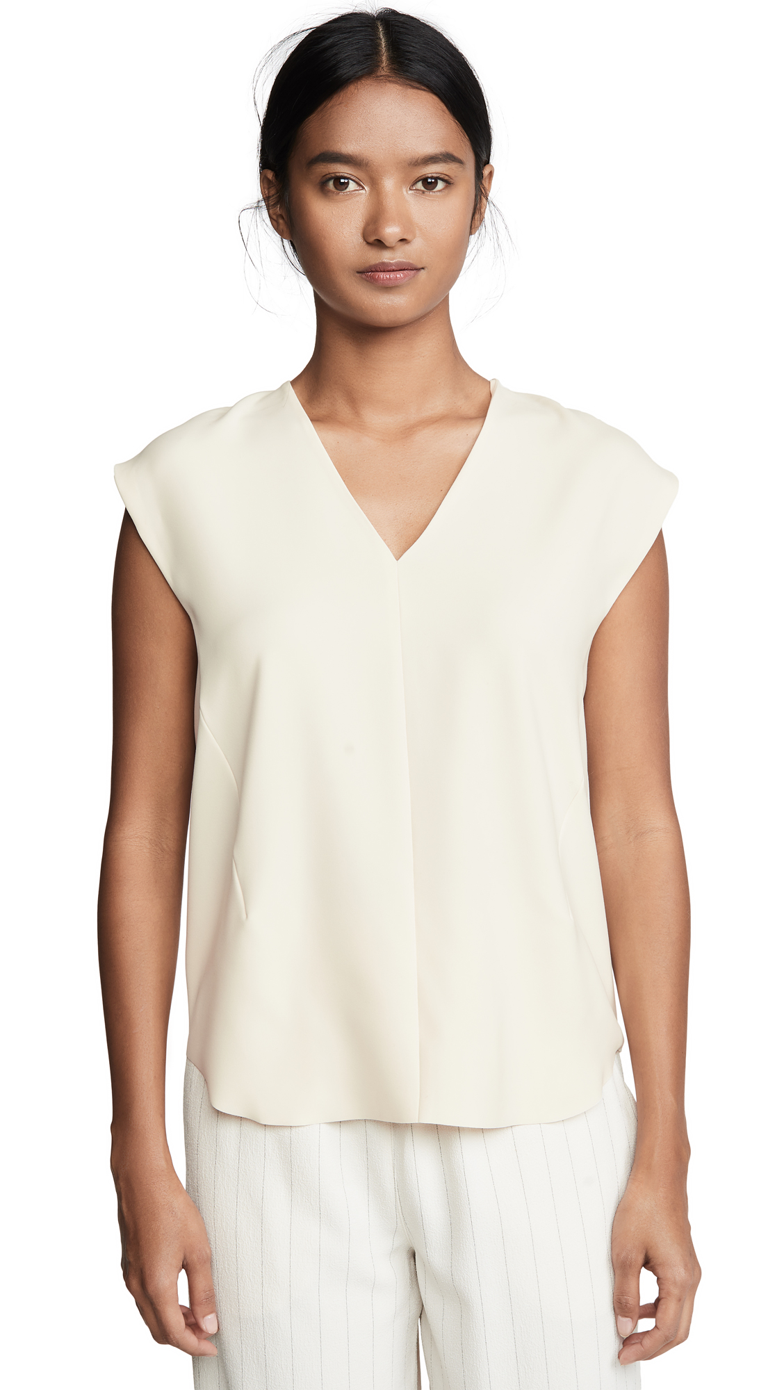 Buy Vince online - photo of Vince Cap Sleeve Blouse