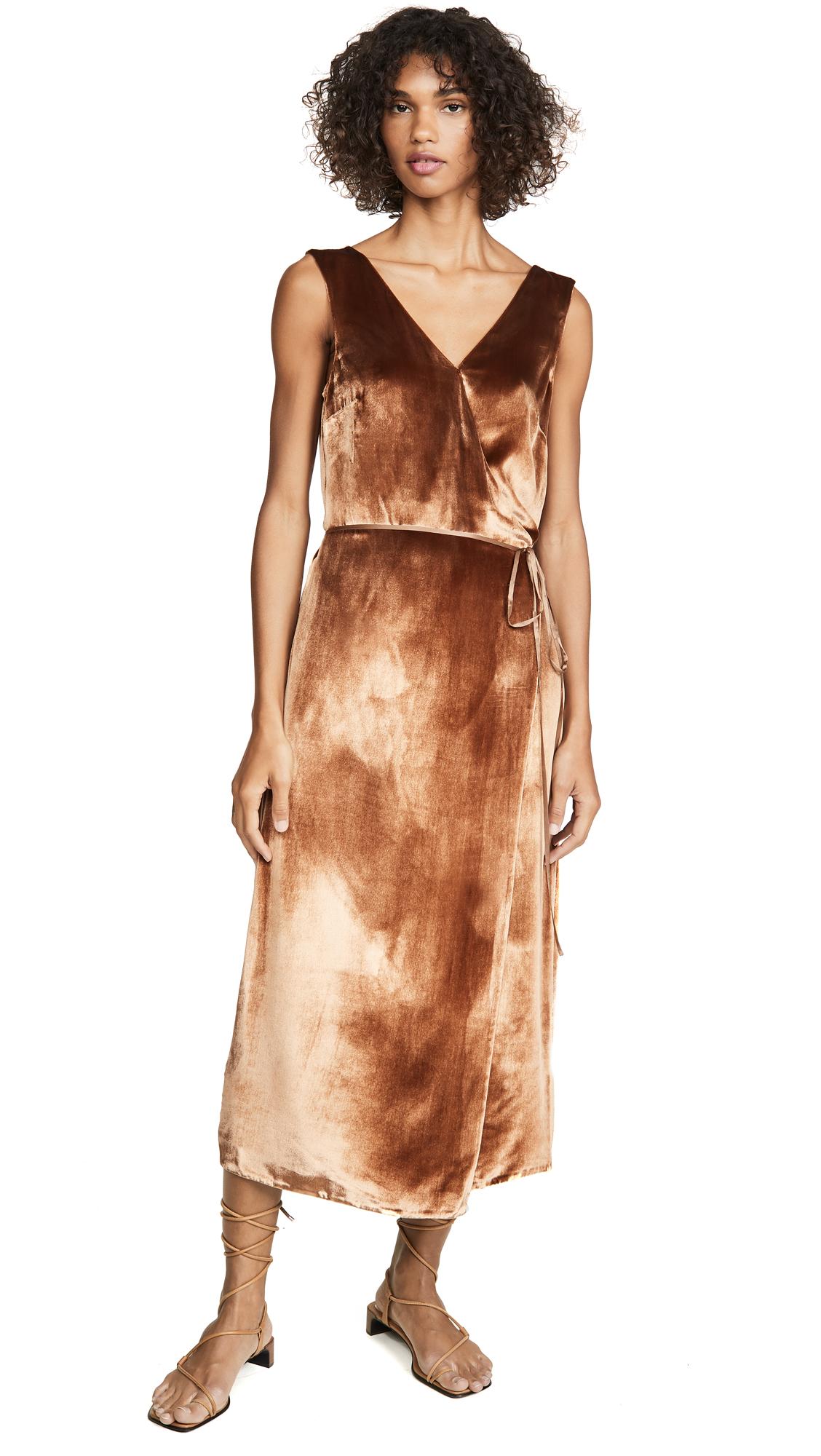 Buy Vince online - photo of Vince Panne Wrap Dress