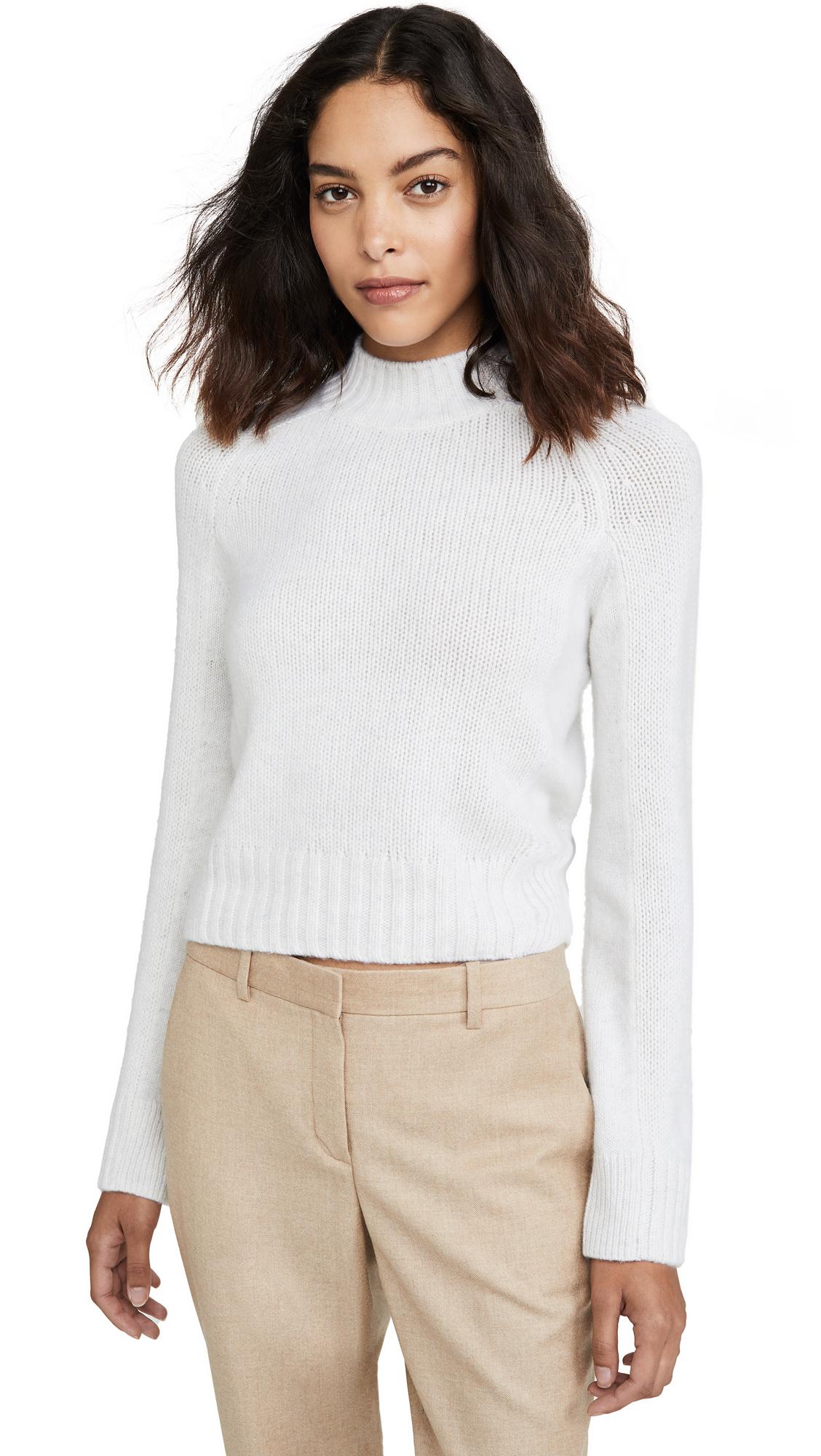 Buy Vince online - photo of Vince Cashmere Shrunken Mock Neck Sweater