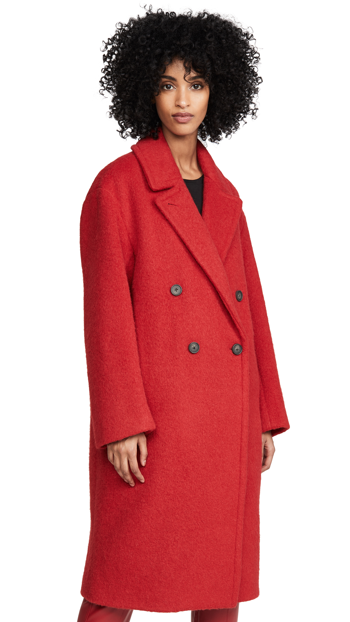 Buy Vince online - photo of Vince Double Breasted Alpaca Long Coat