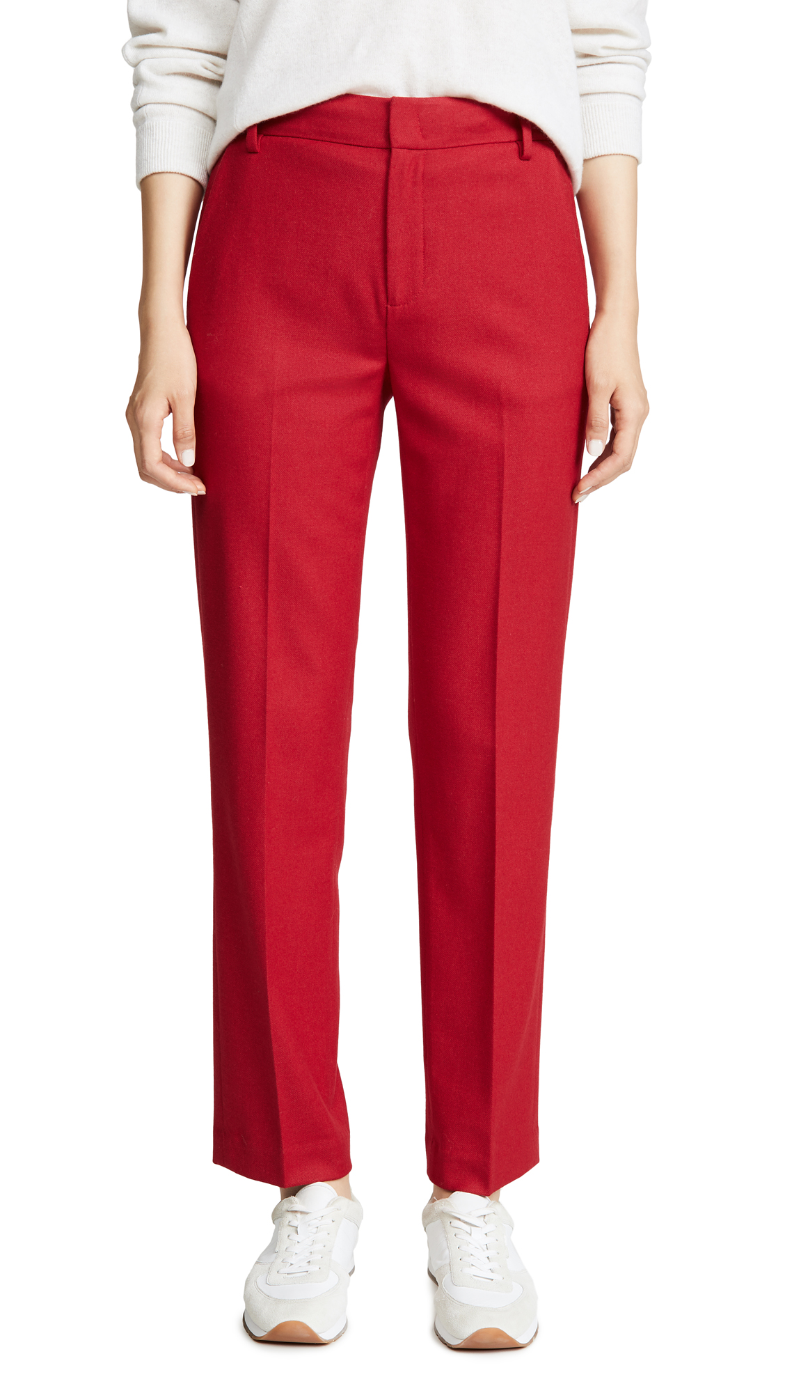 Buy Vince online - photo of Vince Flannel Tailored Pants