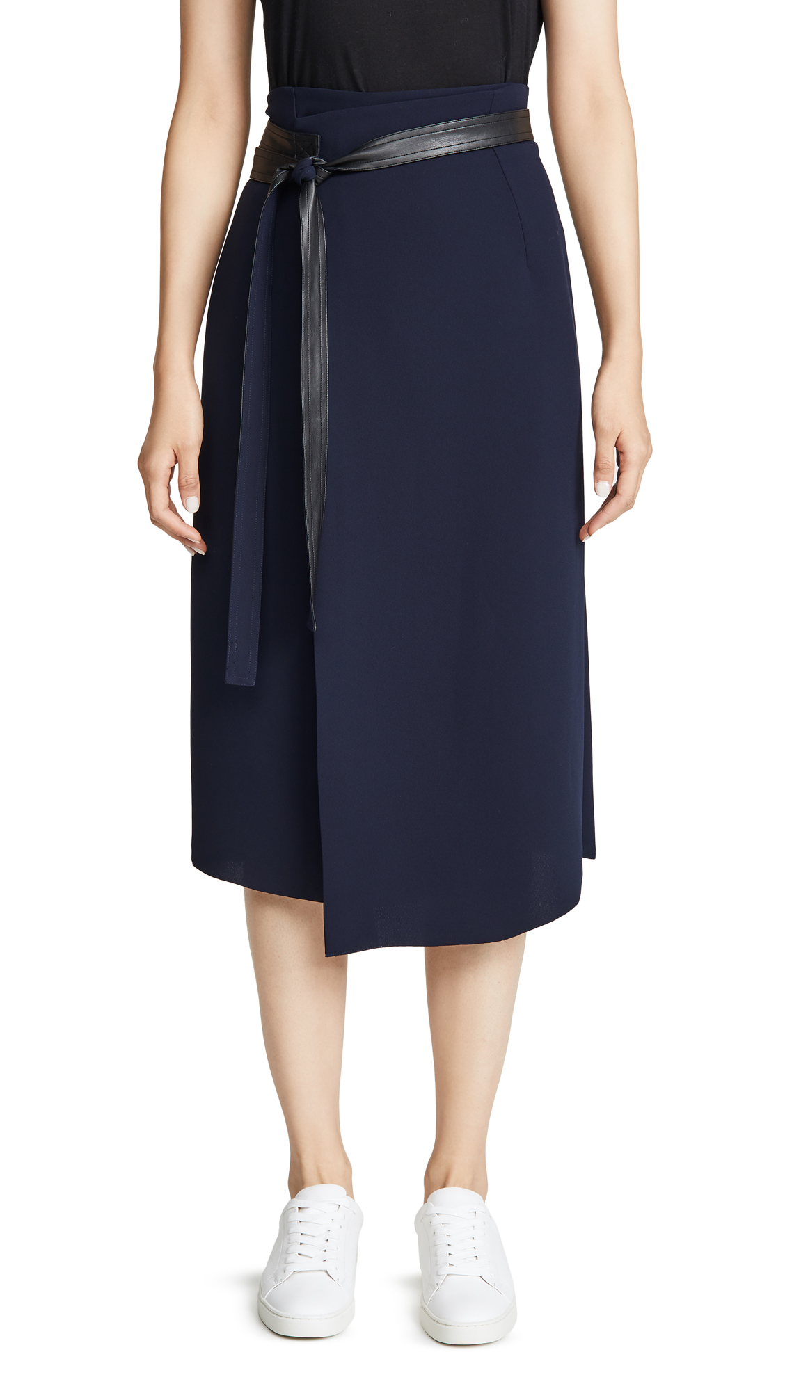 Buy Vince online - photo of Vince Belted Wrap Skirt