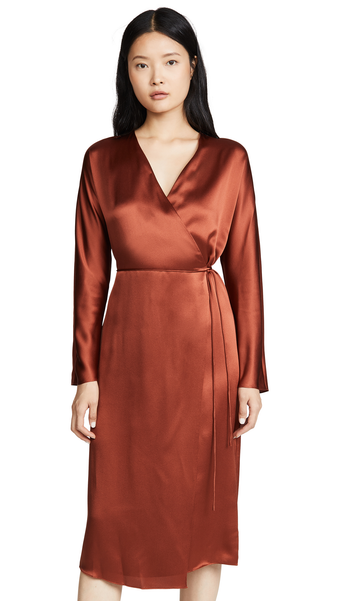 Buy Vince online - photo of Vince Wrap Tie Dress