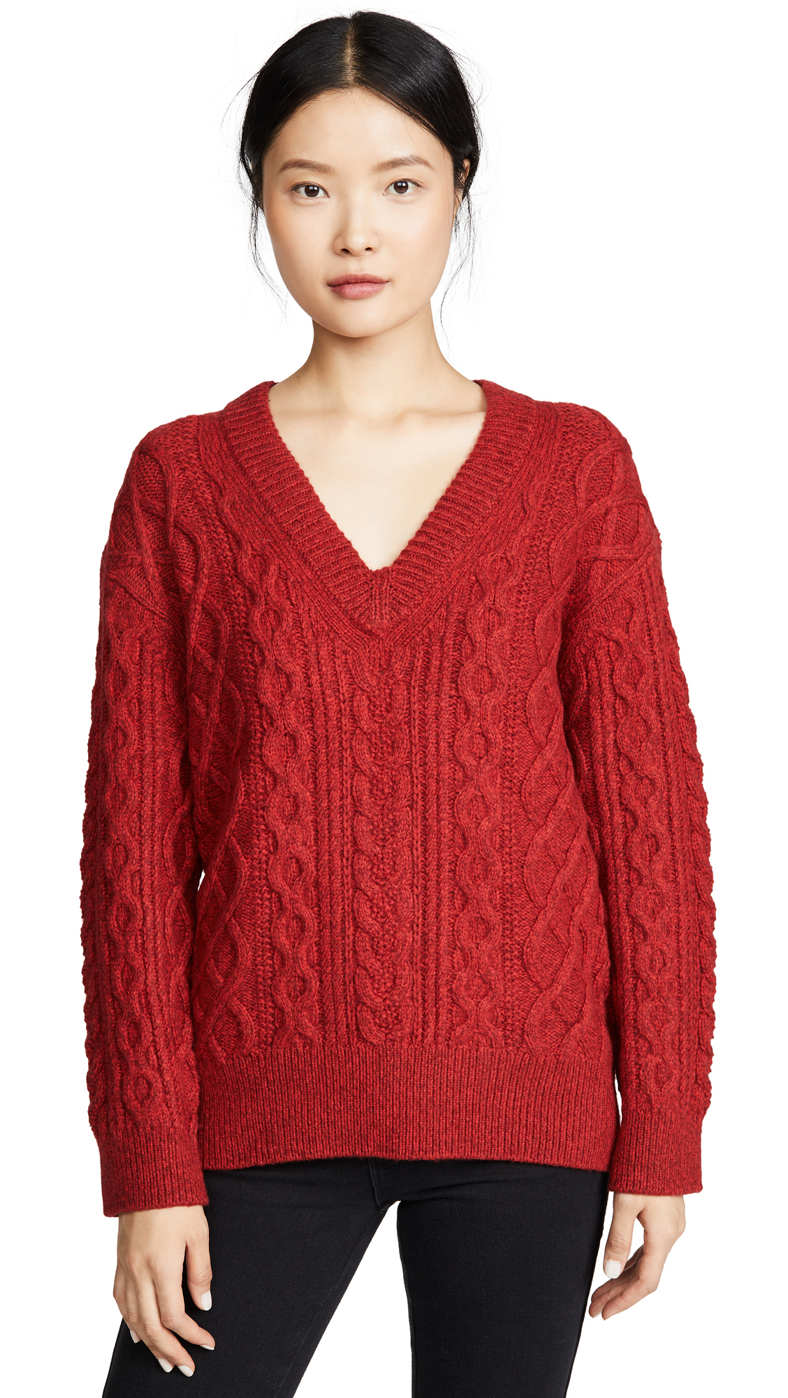 Buy Vince online - photo of Vince Cable V Neck Sweater