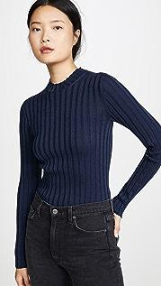 Vince Рубчатый пуловер с воротником под горло